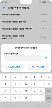 Huawei P20 - Anrufe - Rufumleitungen setzen und löschen - 7 / 9