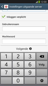 Samsung N9005 Galaxy Note III LTE - E-mail - Account instellen (IMAP zonder SMTP-verificatie) - Stap 13