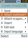 Samsung B2100 Xplorer - E-mail - Sending emails - Step 12