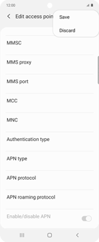 Samsung Galaxy Z flip - MMS - Manual configuration - Step 14