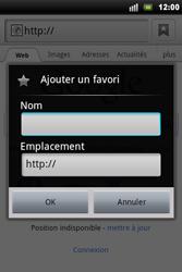 Sony Xperia Mini Pro - Internet - Navigation sur Internet - Étape 5