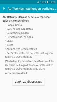 Samsung Galaxy A8 - Gerät - Zurücksetzen auf die Werkseinstellungen - Schritt 6