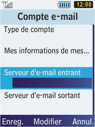 Samsung C3350 Xcover 2 - E-mail - Configurer l