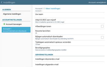 Samsung Galaxy Tab4 10.1 4G (SM-T535) - E-mail - Instellingen KPNMail controleren - Stap 11