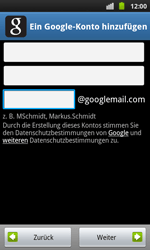 Samsung Galaxy S Plus - Apps - Konto anlegen und einrichten - 7 / 20