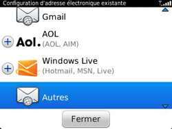 BlackBerry 9320 - E-mails - Ajouter ou modifier un compte e-mail - Étape 6