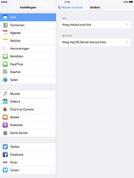 Apple iPad Pro 9.7 - iOS 10 - E-mail - e-mail instellen: IMAP (aanbevolen) - Stap 6