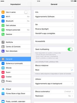 Apple iPad mini iOS 8 - Dispositivo - ripristino delle impostazioni originali - Fase 4
