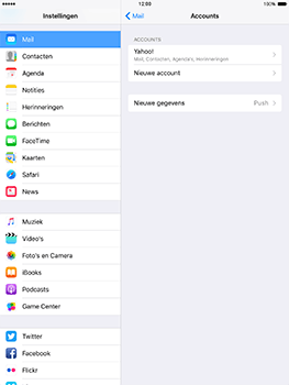 Apple iPad mini 4 iOS 10 - E-mail - Handmatig instellen (yahoo) - Stap 9