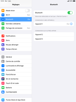 Apple iPad Air 2 - iPadOS 13 - Bluetooth - connexion Bluetooth - Étape 8