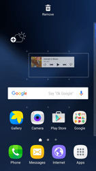 Samsung Galaxy S7 Edge - Getting started - Installing widgets and applications on your start screen - Step 6