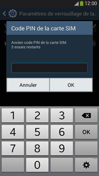 Samsung Galaxy Note 3 - Sécuriser votre mobile - Personnaliser le code PIN de votre carte SIM - Étape 8