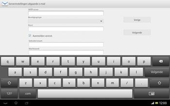 Sony SGP321 Xperia Tablet Z LTE - E-mail - e-mail instellen: IMAP (aanbevolen) - Stap 12