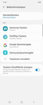 Samsung Galaxy Z flip - Startanleitung - So fügen Sie eine Tastatursprache hinzu - Schritt 7