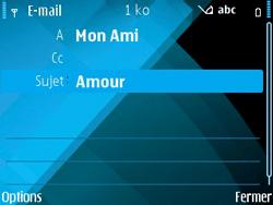 Nokia E71 - E-mail - envoyer un e-mail - Étape 8
