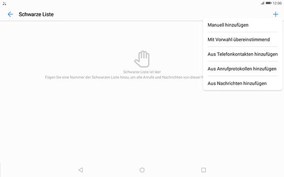 Huawei MediaPad T3 (10.0) LTE - Anrufe - Anrufe blockieren - 8 / 12