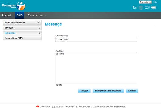 Huawei E5577 - Contact, Appels, SMS/MMS - Envoyer un SMS - Étape 6