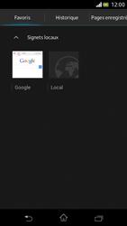 Sony Xperia V - Internet et roaming de données - Navigation sur Internet - Étape 14