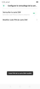 Oppo A9 2020 - Sécuriser votre mobile - Personnaliser le code PIN de votre carte SIM - Étape 14