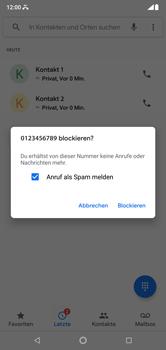 Nokia 6.1 Plus - Anrufe - Anrufe blockieren - Schritt 6