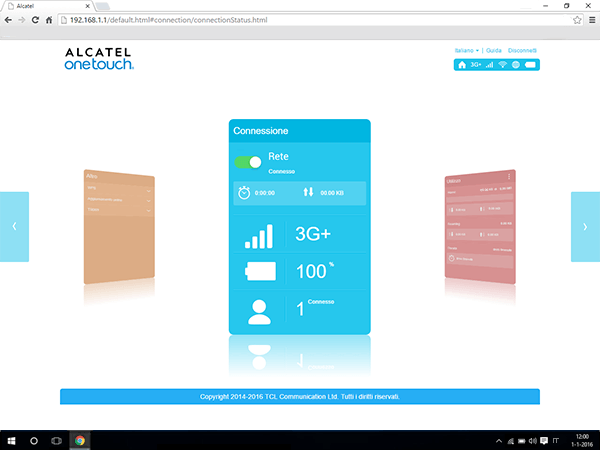 Alcatel MiFi Y900 - Impostazioni - abilitare filtro MAC - Fase 2
