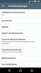 Sony Xperia X (F5121) - Android Nougat - Anrufe - Rufumleitungen setzen und löschen - Schritt 5