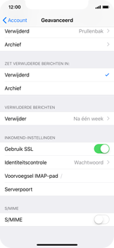 Apple iPhone X - iOS 12 - E-mail - Handmatig instellen - Stap 25