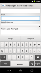 Sony C6903 Xperia Z1 - E-mail - e-mail instellen: IMAP (aanbevolen) - Stap 10