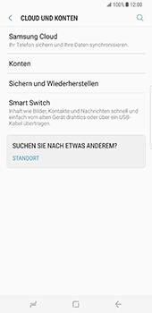 Samsung Galaxy S8 Plus - Datenschutz und Sicherheit - Kontakte, E-Mail und Fotos mit Gmail synchronisieren - 5 / 10