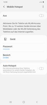 Samsung Galaxy S20 Plus 5G - WiFi - So aktivieren Sie einen WLAN-Hotspot - Schritt 11