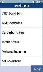 Samsung S5250 Wave 525 - Voicemail - Handmatig instellen - Stap 5