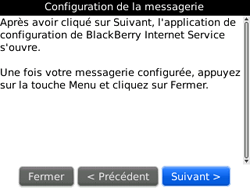 BlackBerry 9300 Curve 3G - E-mail - Configuration manuelle - Étape 7