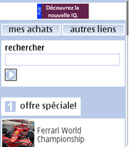Sony Xperia Neo - Internet - Examples des sites mobile - Étape 2