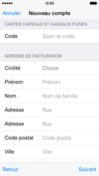 Apple iPhone 5s - iOS 8 - Applications - Créer un compte - Étape 20