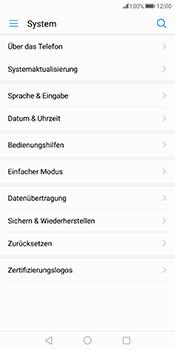 Huawei Mate 10 Pro - Fehlerbehebung - Handy zurücksetzen - Schritt 6