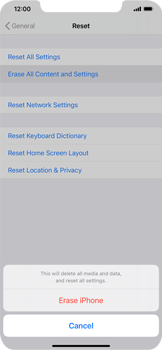 Apple iPhone XS Max - iOS 14 - Mobile phone - Resetting to factory settings - Step 6