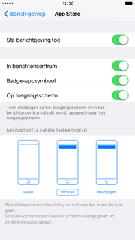 Apple iPhone 7 Plus - iOS features - Bewerk meldingen - Stap 6