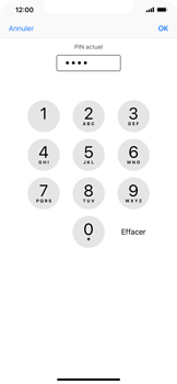Apple iPhone XS Max - Sécuriser votre mobile - Personnaliser le code PIN de votre carte SIM - Étape 7