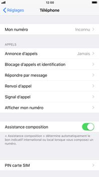Apple iPhone 8 Plus - Sécuriser votre mobile - Personnaliser le code PIN de votre carte SIM - Étape 4