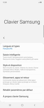 Samsung Galaxy Z flip - Prise en main - Comment ajouter une langue de clavier - Étape 8