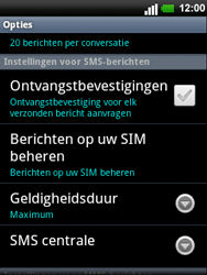 LG C660 Optimus Pro - SMS - handmatig instellen - Stap 5