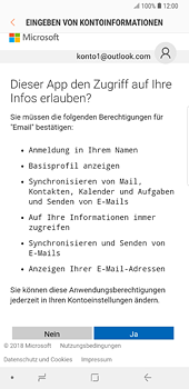Samsung Galaxy Note 8 - E-Mail - 032c. Email wizard - Outlook - Schritt 7