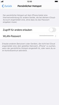 Apple iPhone 8 Plus - iOS 14 - WiFi - So aktivieren Sie einen WLAN-Hotspot - Schritt 6