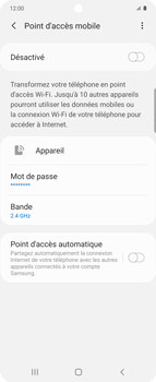 Samsung Galaxy Z flip - WiFi - Comment activer un point d'accès WiFi - Étape 7