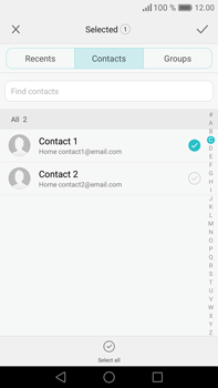 Huawei Mate 8 - Email - Sending an email message - Step 6