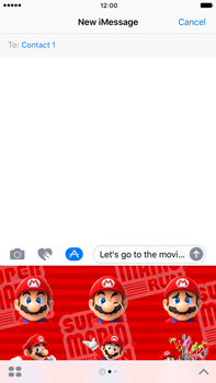 Apple Apple iPhone 6 Plus iOS 10 - iOS features - Send iMessage - Step 22