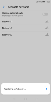 Huawei P Smart - Network - Manually select a network - Step 11