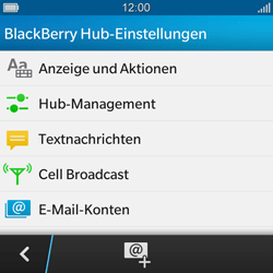 BlackBerry Q10 - SMS - Manuelle Konfiguration - 5 / 9
