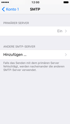 Apple iPhone 5 iOS 10 - E-Mail - Manuelle Konfiguration - Schritt 25