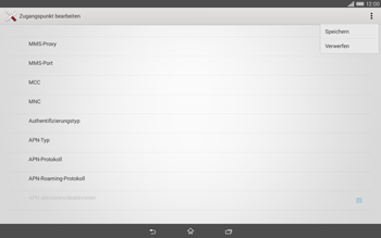 Sony Xperia Tablet Z2 LTE - Internet - Manuelle Konfiguration - Schritt 15